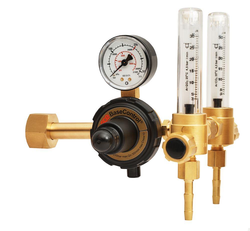 Регулятор для аргона и углекислого газа BaseControl SE ARG - 2 ротаметра