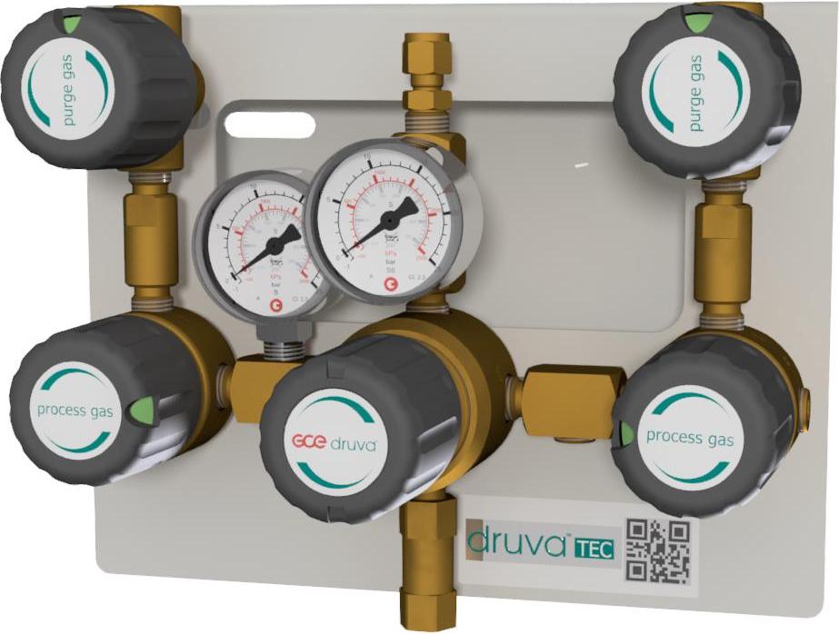 Газовая рампа перепускная с ручным переключением MTLM GCE Druva Tec