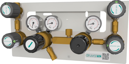 Газовая рампа перепускная с полуавтоматическим переключением MTLS GCE Druva Tec