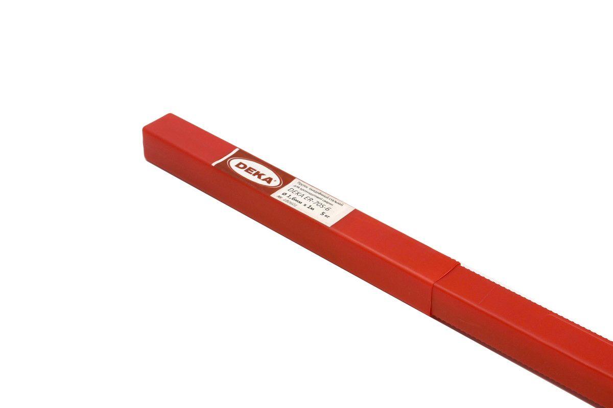 Пруток омедненный ER70S-6 2,4 мм DEKA по 5 кг