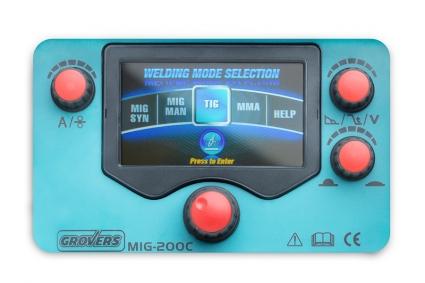 GROVERS MIG 200C Синергетический сварочный полуавтомат