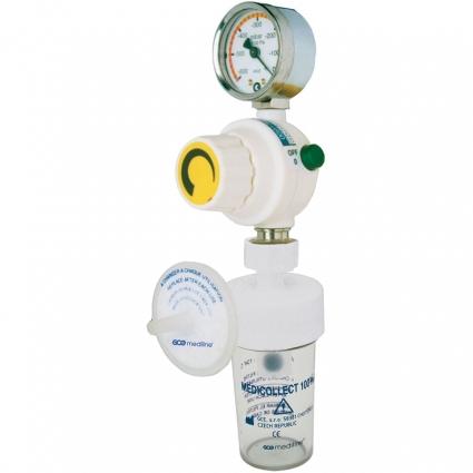 Регулятор вакуума Medievac+ 1000 DIN QC с предохранительным контейнером 100 мл. и фильтром