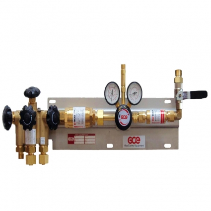 Газовая рампа разрядная на 3 баллона MB70 GCE Druva Tec