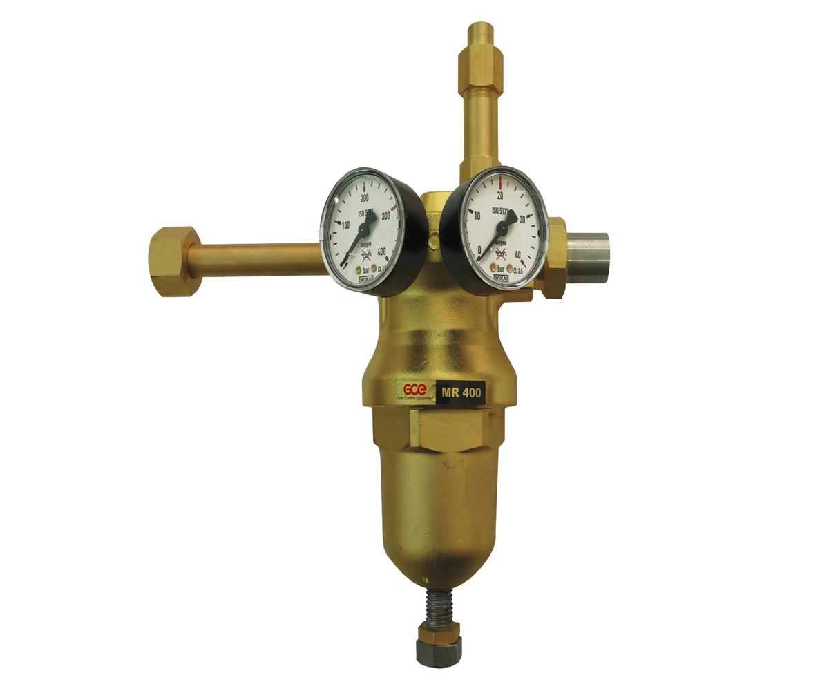 Рамповый регулятор MR400 (аналог РКЗ-500) 200/20бар, G3/4-G1/2, 600Нм3/час, кислород, инертные газы