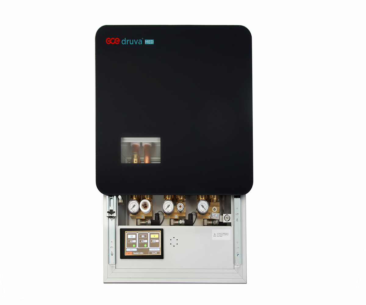 Поэтажная коробка SLIDE с поликарбонатным стеклом и встроенной сигнализацией LED на 4 газа