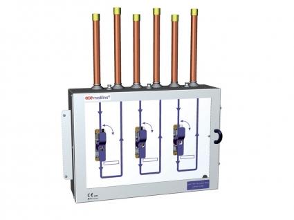 Поэтажная коробка PRESSURE WATCH на 3 газа DN20