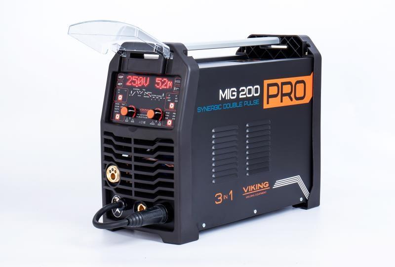 Сварочный полуавтомат VIKING MIG 200 DOUBLE PULSE SYNERGIC PRO MIG/MMA/LIFT-TIG 3 в 1